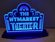 Large Tabletop LED Home Theater Sign