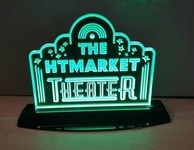 Medium Tabletop LED Home Theater Sign