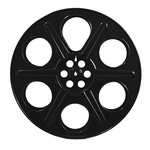 Reel Wall Decor Black Gloss Metal