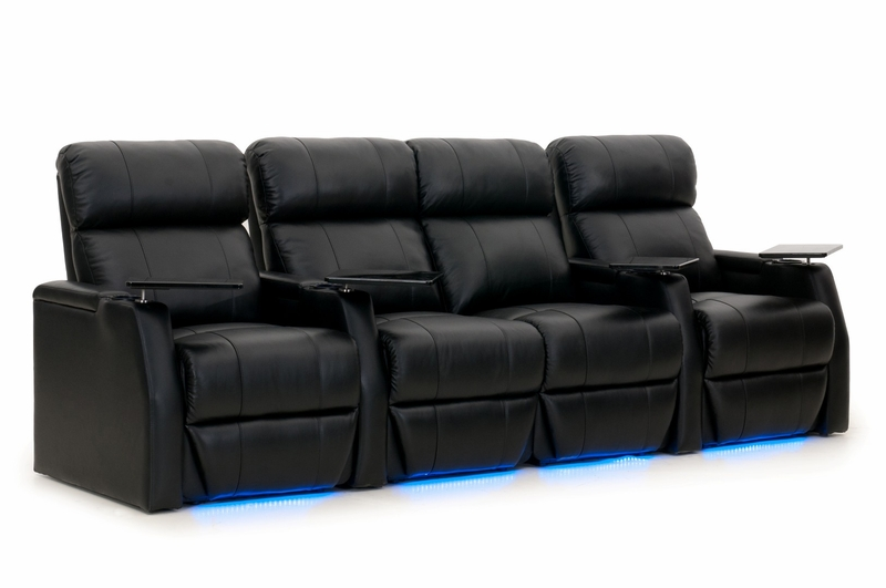 Htdesign warwick home theater seating top grain leather Loveseat theater seating