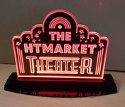 Small Tabletop LED Home Theater Sign