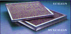 100-124 Square Inches: Regular EZ Kleen Filters, 3/32, 3/8 or 1/2 Thick