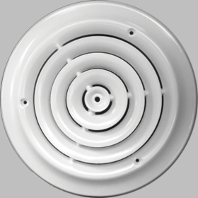 Accord 12 Inch Round White Ceiling Diffuser #300 Model 30012WH
