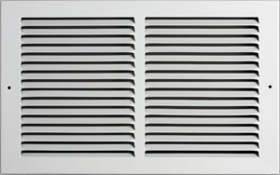 Accord 14 x 6 White Baseboard Return Air Grille #185 Model 1851406WH