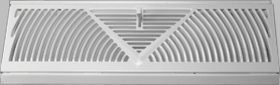Accord 18 Inch White Baseboard Diffuser #150 Model 15018WH