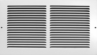 Accord 24 x 8 White Baseboard Return Air Grille #195 Model 1952408WH