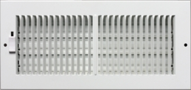 Accord 30 x 8 White Sidewall or Ceiling Register 2-Way #222 Model 2223008WH