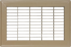 "Accord 4"" x 14"" Brown Floor Return Air Grille #120 Model 1200414BR"