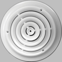 Accord 6 Inch Round White Ceiling Diffuser #300 Model 30006WH