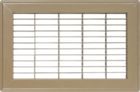 "Accord 8"" x 14"" Brown Floor Return Air Grille #120 Model 1200814BR"