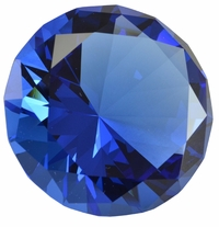 2.5 Inch Blue Diamond Paperweight 60mm