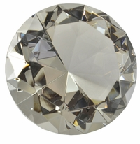 2.5 Inch Clear Diamond Paperweight 60mm