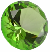 2.5 Inch Green Diamond Paperweight 60mm