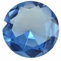 2.5 Inch Light Blue Diamond Paperweight 60mm