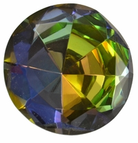2.5 Inch Purple Green Iridescent Diamond Paperweight 60mm