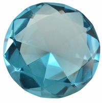 2.5 Inch Turquoise Diamond Paperweight 60mm