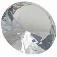 6 Inch Diamond Paperweight, with Stand 150mm