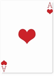 Ace of Hearts Cardboard Cutout Life Size Standup
