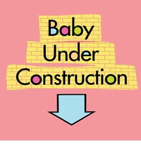 Baby Under Construction Maternity nightshirt
