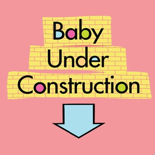 Baby Under Construction Maternity nightshirt - Click to enlarge