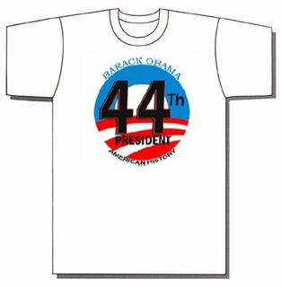 Barack Obama 44th President American History White Shirt - Click to enlarge