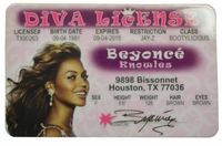Beyonce Knowles ID - Diva License