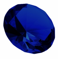 Blue 3.15 Inch Solid Colored Diamond 80mm