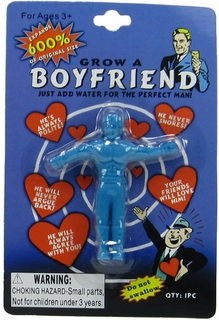 Boyfriend Grow Toy (2 Pack) - Expands 600% - Blue & Red - Click to enlarge