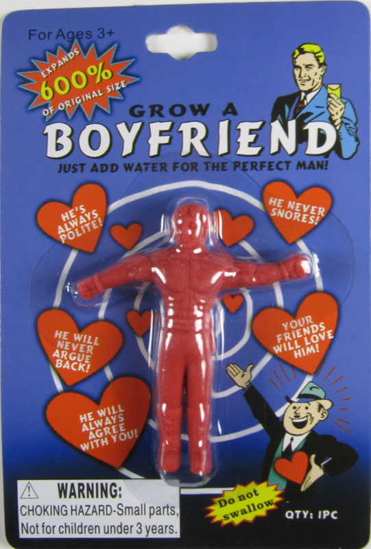 Grow A Boyfriend Water Growing Toys 2 Pack 1 Red 1 Blue
