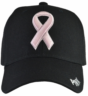 Breast Cancer Awareness - Black Baseball Hat - Click to enlarge