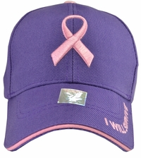 Breast Cancer Awareness - I Will Survive Purple Baseball Hat