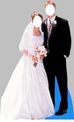 Bride and Groom Stand-In Cardboard Cutout Life Size Standup