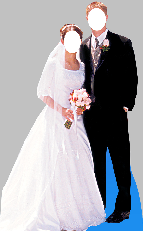 bride and groom standin cardboard cutout life size standup