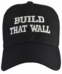 Build That Wall Black Baseball Hat