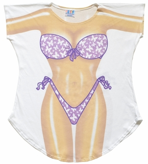Butterfly Bikini Cover-Up T-Shirt - Made in America - Click to enlarge