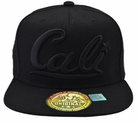 Cali Black Hat Black Brim Black Embroidered