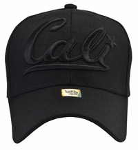 Cali Black Hat Black Embroidery