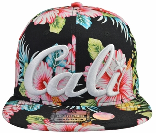 Cali Floral Snapback Hat - Click to enlarge