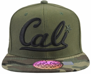 Cali Green Hat Camo Brim With Black Embroidery - Click to enlarge