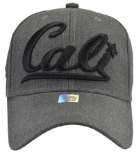 Cali Grey Hat Grey Brim With Black Embroidery