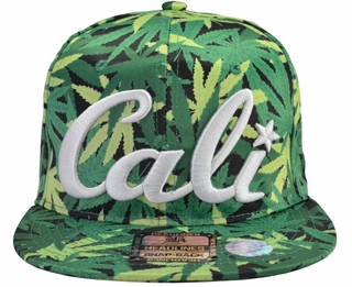 Cali Pot Leaf Snapback Hat - Click to enlarge