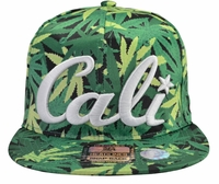 Cali Pot Leaf Snapback Hat