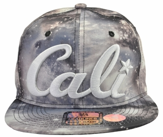 Cali Space Grey Snapback Hat - Click to enlarge
