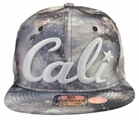 Cali Space Grey Snapback Hat