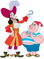 Captain Hook and Mr Smee from Jake and The Neverland Pirates Cardboard Cutout Life Size Standup
