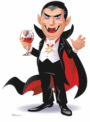 Cartoon Dracula Cardboard Cutout Life Size Standup