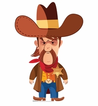 Cartoon Sheriff Cardboard Cutout Life Size Standup