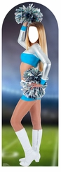 Cheerleader Cardboard Cutout Life Size Stand-In