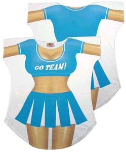 Cheerleader Cover-Up T-shirt - Made in America - Click to enlarge