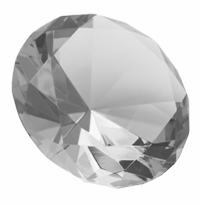 Clear 4 Inch Diamond Paperweight 100mm